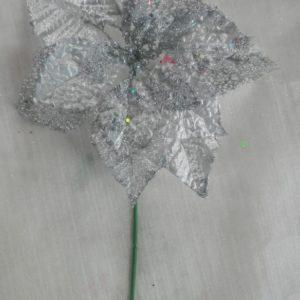Flor Poinsetia Plata