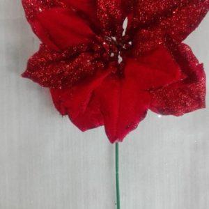 Flor Poinsetia Roja