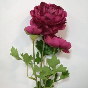 Flor rosa tres tallos
