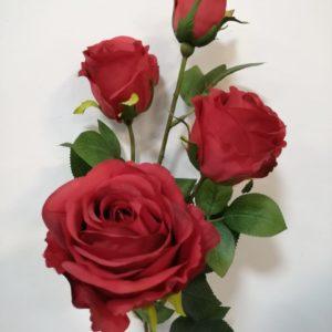 Rosas rojas 4 tallos
