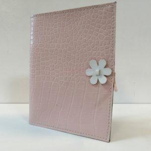Álbum cuero rosa flor