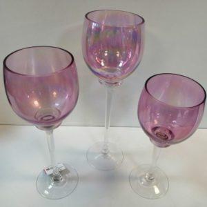 Porta vela 3 Piezas rosa