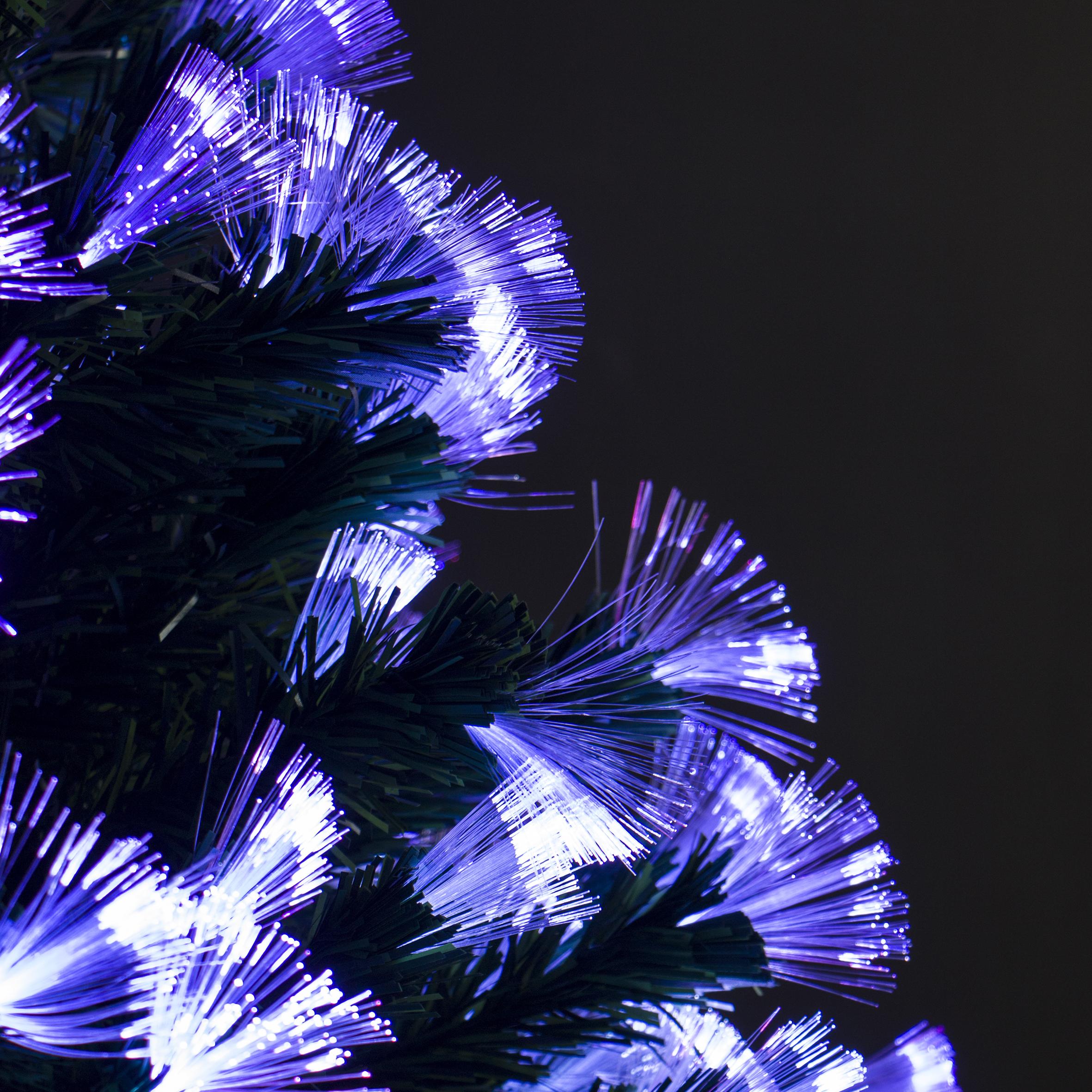 Árbol luz brillo 210cm de fibra óptica